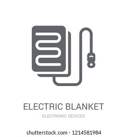 electric blanket icon. Trendy electric blanket logo concept on white background from Electronic Devices collection. Suitable for use on web apps, mobile apps and print media.
