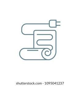 Electric blanket linear icon concept. Electric blanket line vector sign, symbol, illustration.