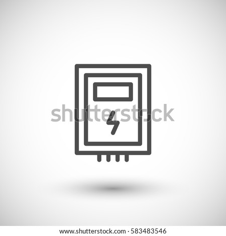 Electric Box Line Icon Stock-Vektorgrafik (Lizenzfrei) 583483546 ...