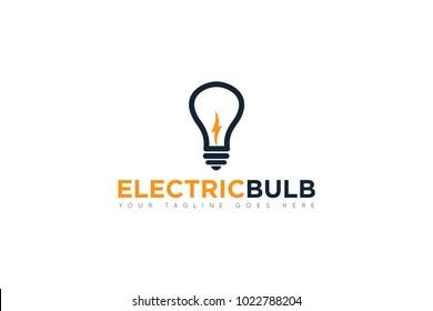 electric bulb logo and icon Vector design Template. Vector Illustrator Eps.10