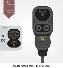 Electric Car charging plug Type 2 CCS Combo 2 Europe