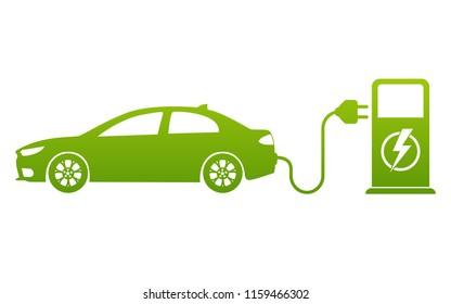Vektorsymbol des Schaltpunkts für Elektroautos