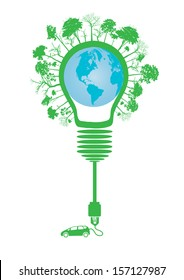 electric car design  (light bulb with socket)