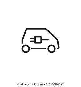 Electric car line icon. Car, socket-wrench, technology. Smart car concept. Vector illustration can be used for topics like modernization, city, town, system