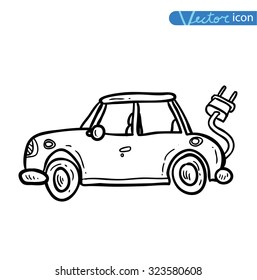 Electric car, vector.