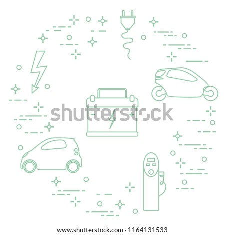 electric cars battery charging station electrical stock vector Commercial Charging Stations electric cars battery charging station electrical safety sign cable electrical plug