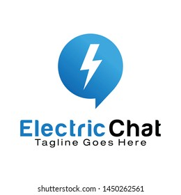 Electric Chat logo design template
