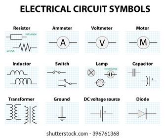 Circuit Diagram Symbols Images, Stock Photos & Vectors | Shutterstock