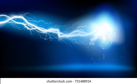 Electric discharge. Vector illustration.