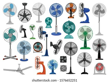 Electric fan cartoon vector set icon.Vector illustration icon air propeller on white background . Isolated cartoon set electric and air fan.