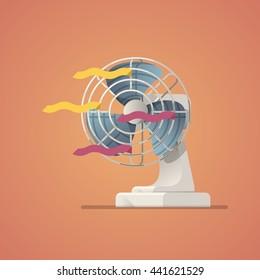electric fan, flat style vector illustration