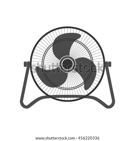 Electric Fan Vector Design Stock Vector Royalty Free 456220336