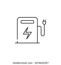 Electric filling station icon. Simple element illustration. Electric filling station symbol design from Ecology collection set. Can be used in web and mobile on white background