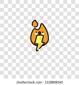 electric fire icon sign and symbol. electric fire color icon for website design and mobile app development. Simple Element from firefighter collection for mobile concept and web apps icon.