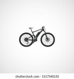 Electric full suspension mountain bike.