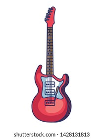 electric guitar instrument musical icon