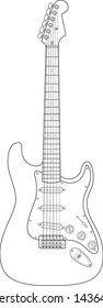 electric guitar line art