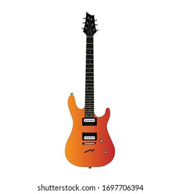 Electric Guitar musical instrument illustration