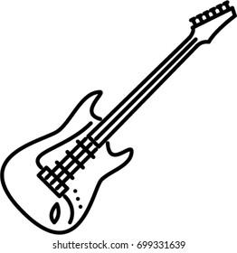 guitar outline images stock photos amp vectors shutterstock