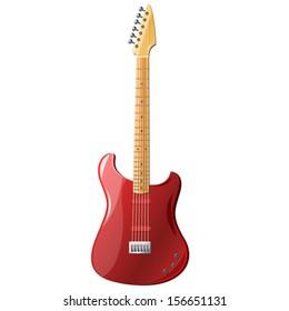 Electric guitar, vector illustration
