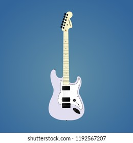 Electric guitar vector illustration.  Perfectly suitable for your work, for example, posters, leaflets, sites and so on. Easily scales.