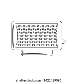 Electric heater icon. Element of Winter for mobile concept and web apps icon. Outline, thin line icon for website design and development, app development