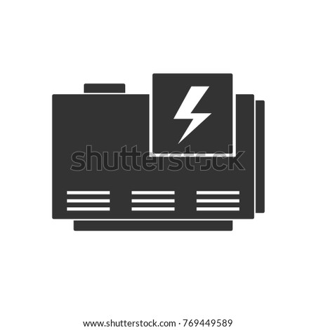 Electric Home Generator Icon Vector Silhouette Stock-Vektorgrafik ...