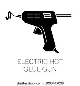 Electric hot glue gun silhouette