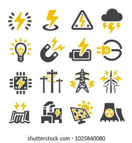 electric icon set
