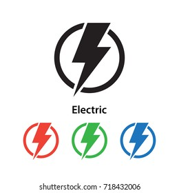 Electric icon vector illustration.