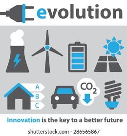 Electric Innovation Icon Set