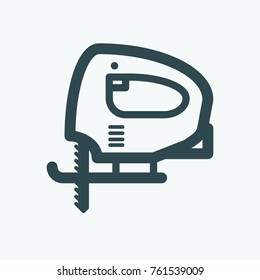 Electric jig saw vector icon