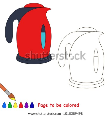 Electric Kettle Be Colored Coloring Book Stock Vector (Royalty Free ...
