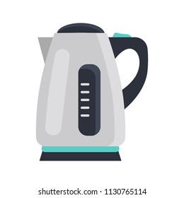 Electric kettle color flat isolated on white icon
