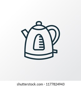 Electric kettle icon line symbol. Premium quality isolated teapot element in trendy style.