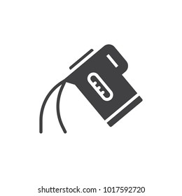Electric kettle pour water icon vector, filled flat sign, solid pictogram isolated on white. Symbol, logo illustration.