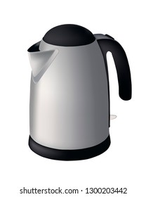 electric kettle, vector