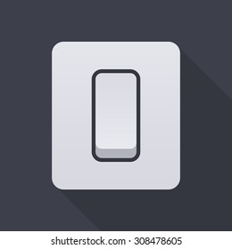 Electric light switch icon, modern minimal flat design style, vector illustration