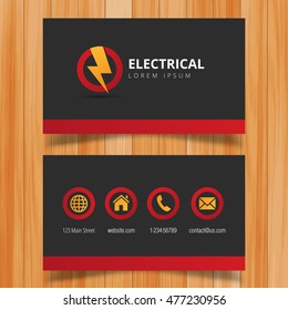Electrician business card imagens fotos e vetores stock shutterstock electric logo and business card template reheart Images