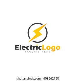 Electric logo design template