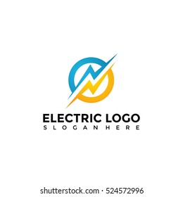 Electric logo template. Vector Illustration Eps.10