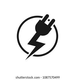 Electric logo. thunder symbol. bolt icon. vector eps 08.
