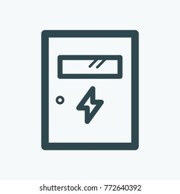 Electric metal box isolated vector icon