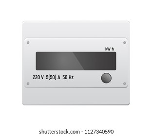 Electric meter. Measurement of electricity consumption. Vector illustration. Modern equipment