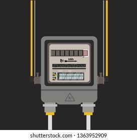 Electric meter vector