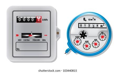 Electric meter and water meter