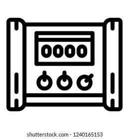 Electric microcontroller icon. Outline electric microcontroller vector icon for web design isolated on white background