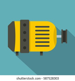Electric motor icon. Flat illustration of electric motor vector icon for web