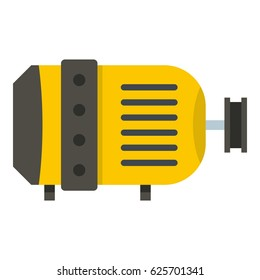 Electric motor icon flat isolated on white background vector illustration