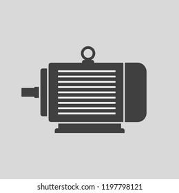 Electric motor vector icon